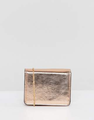 Asos Purse With Cross Body Chain Strap