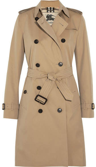 Burberry - The Kensington Long Cotton-gabardine Trench Coat - Sand