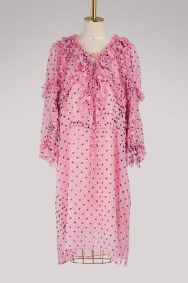Koché Silk ruffle dress