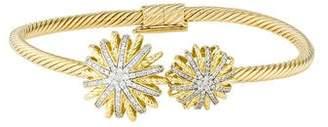 David Yurman 18K Diamond Starburst Cuff