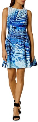 KAREN MILLEN Palm Print Dress $250 thestylecure.com