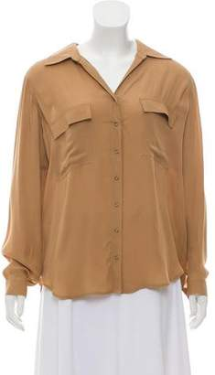 L'Agence Silk Button-Up