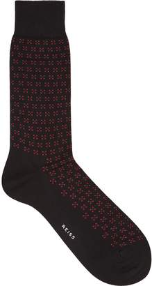 Reiss Alom Floral Patterned Socks
