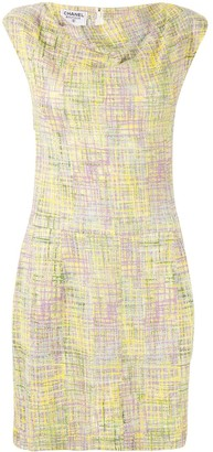 Chanel Pre-Owned 1998 cowl neck tweed dress
