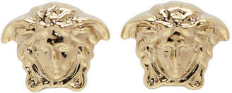 Versace Gold Mini Medusa Earrings