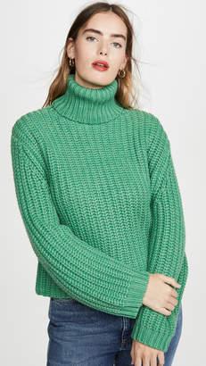 Tory Sport Oversized Merino Turtleneck Sweater