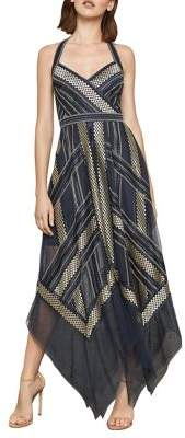 3d4c96435b9 ... BCBGMAXAZRIA Metallic Striped Handkerchief Dress