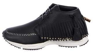 Buscemi Fringe-Trimmed High-Top Sneakers