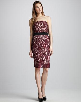 Single Dress Single Strapless Lace Dress
