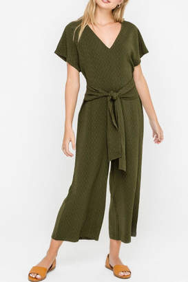 Lush Cropped Jumpsuit, Olive