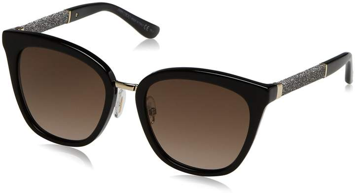 Ralph Lauren New Jimmy Choo JC Fabry/S FA3/J6 Black Ruthenium Frame Brown Lens Sunglasses 53