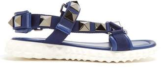 Valentino - Rubber Stud Sole Sandals - Mens - Navy Multi