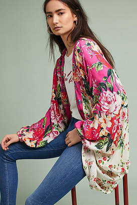Anthropologie Field of Flowers Kimono