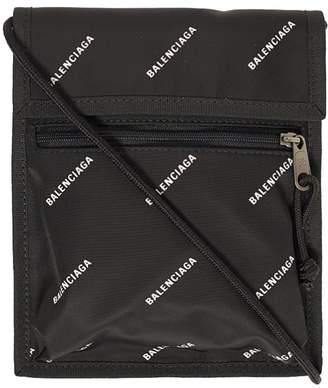 Balenciaga Small Nylon All Over logo Cross-Body Pouch