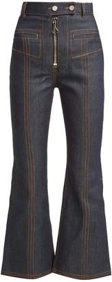 Ellery Hemisphere cropped flare jeans