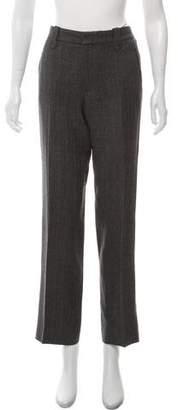 Ralph Lauren Linen-Blend Herringbone Straight-Leg Pants