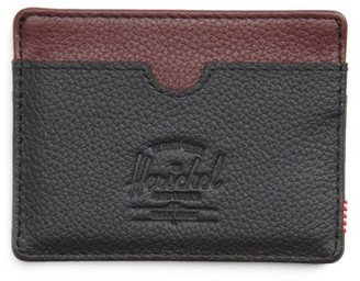 Men's Herschel Supply Co. Charlie Pebble Leather Card Case - Black $30 thestylecure.com