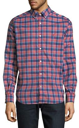 Nautica Wear To Work Classic-Fit Plaid Shirt