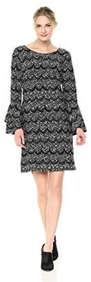 Robbie Bee Women's Long Sleeve Shift Dress