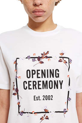 Opening Ceremony O Box Logo Floral T-Shirt