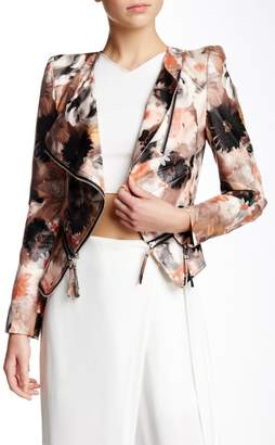 Moto TOV Floral Faux Leather Jacket