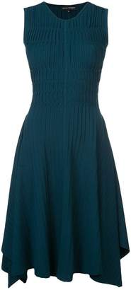 Narciso Rodriguez gathered flared dress