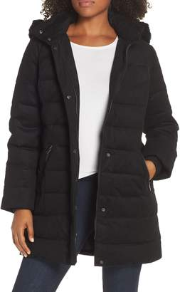 UGG Celeste Genuine Shearling Trim Down Coat