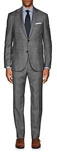 Barneys New York Men's Lotus Plaid Wool Two-Button Suit - Gray
