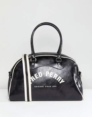Fred Perry Classic Grip Holdall Bag In Black