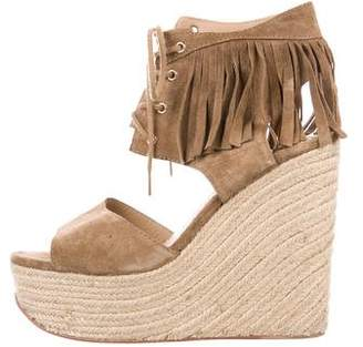 Ash Suede Wedge Sandals