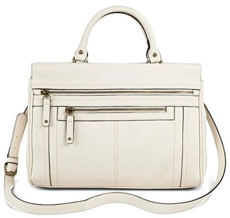 Merona Women's Solid Satchel Faux Leather Handbag with Zipper Pockets - Merona $44.99 thestylecure.com