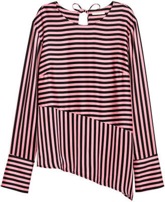 H&M Asymmetric Blouse - Black