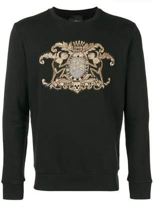 John Richmond embroidered crest logo sweatshirt