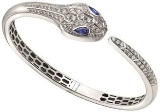 Bvlgari White Gold Sapphire & Diamond Serpenti Bracelet