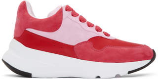 Alexander McQueen Pink and Red Runner Sneakers