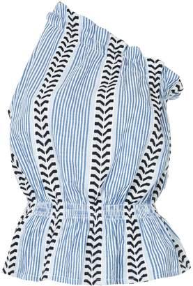 Lemlem patterned one shoulder top