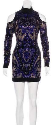 Balmain Velvet Embellished Dress