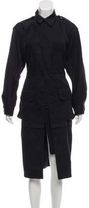 Balenciaga Long Sleeve Midi Dress