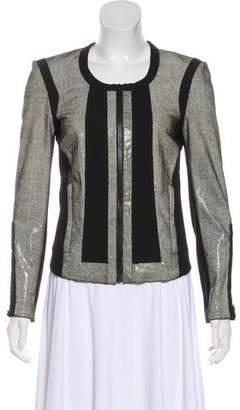 Helmut Lang Printed Leather Jacket