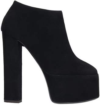 Giuseppe Zanotti High Heels Ankle Boots In Black Suede