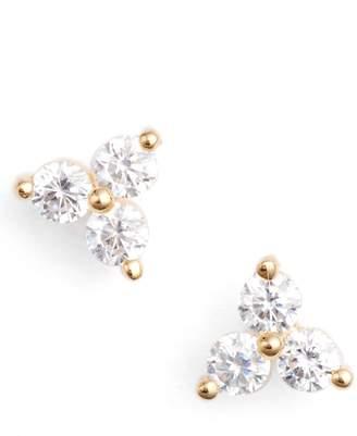 Nordstrom Three-Stone Stud Earrings
