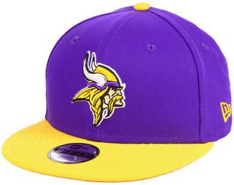 New Era Boys' Minnesota Vikings Two Tone 9FIFTY Snapback Cap