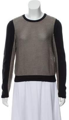 Helmut Lang Colorblock Long Sleeve Sweater Grey Colorblock Long Sleeve Sweater