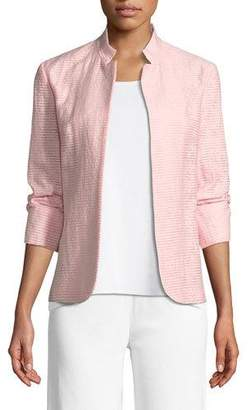 Misook Woven Textured Topper Jacket