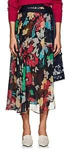 Sacai Women's Floral Gathered Wrap Midi-Skirt-Navy