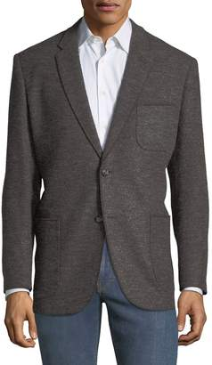 Jax 1 Like No Other Men's Merrow-Stitched Boucle Blazer, Grey/Brown