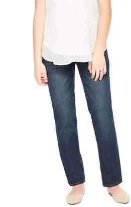 Motherhood Maternity Indigo Blue Tall Secret Fit Belly Straight Leg Maternity Jeans