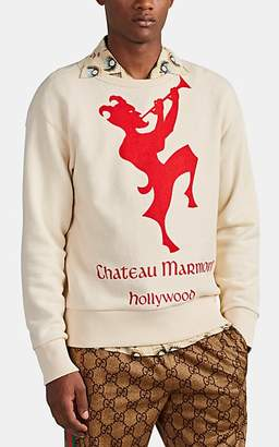"""Gucci Men's """"Chateau Marmont Hollywood"""" Cotton Sweatshirt - Red"""