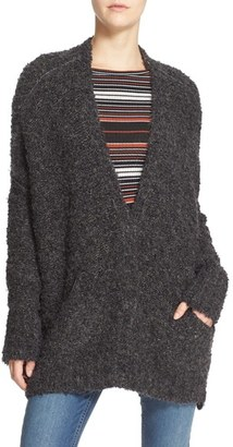 Women's Free People Boucle V-Neck Cardigan $128 thestylecure.com