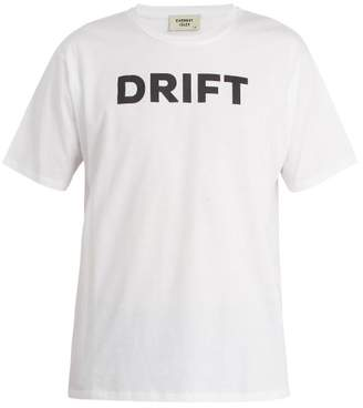 Everest Isles - Drift Print Cotton T Shirt - Mens - White